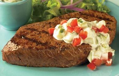 Cucumber Ranch Steaks Recipe