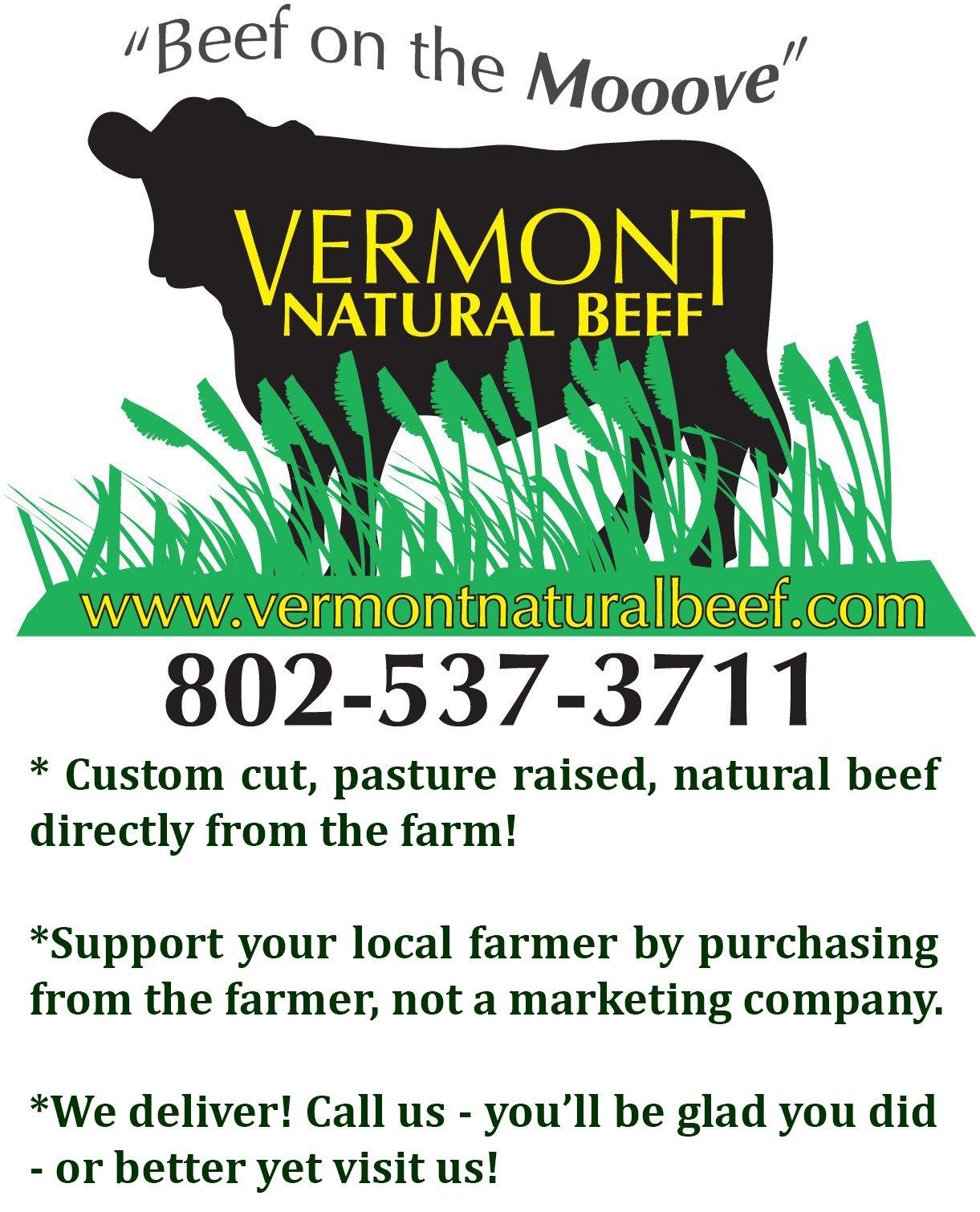 Grass Fed Beef Vermont