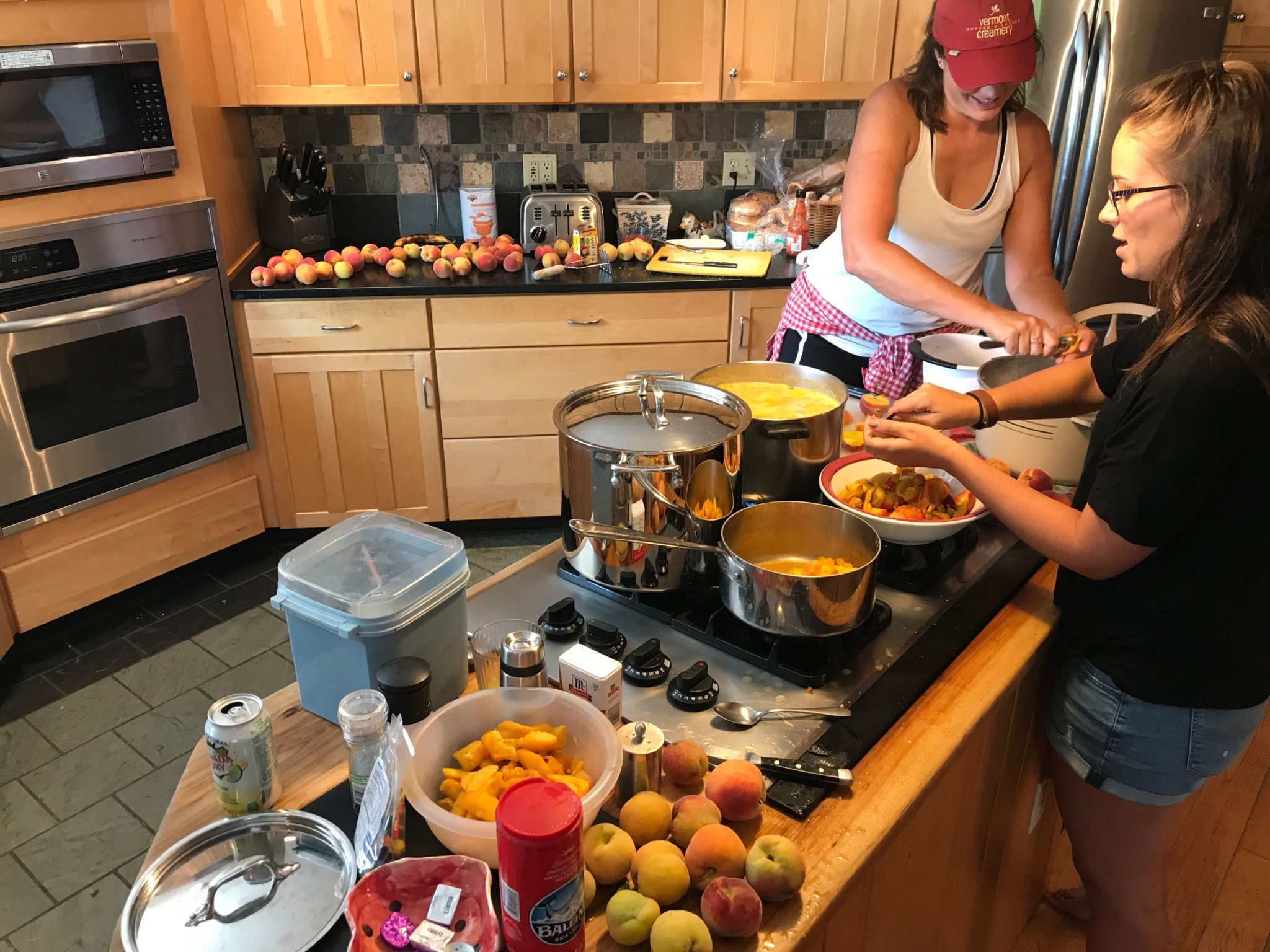 Making Peach Cobbler at Vermont Natural Beef Farm