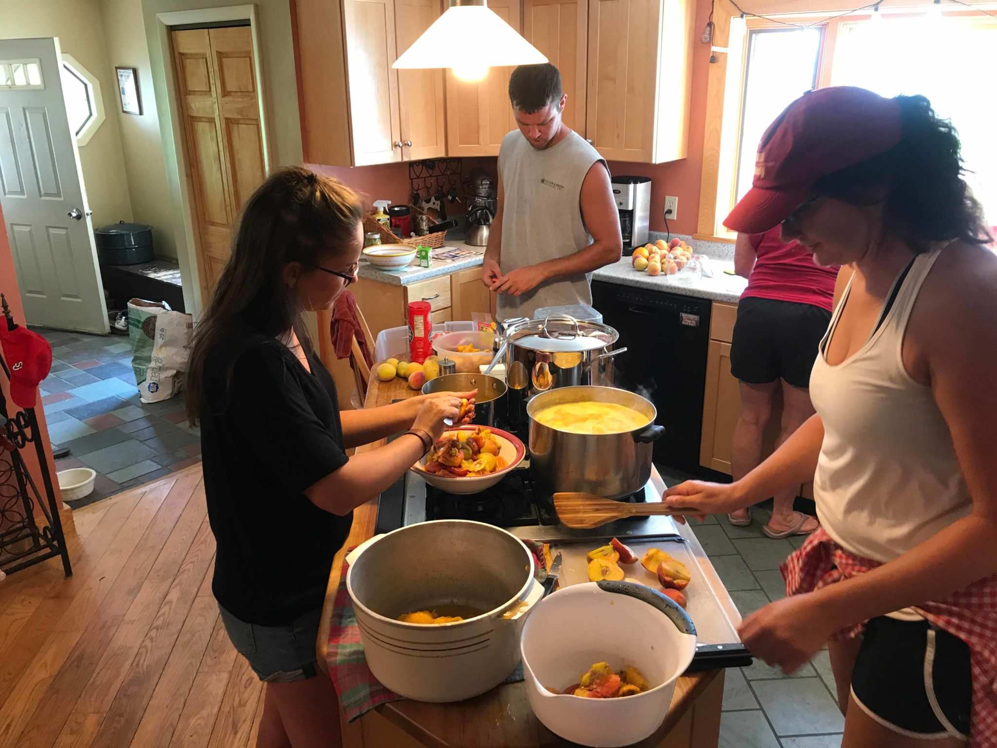 Making Peach Cobbler at Vermont Natural Beef Farm
