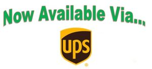 Now Available via UPS